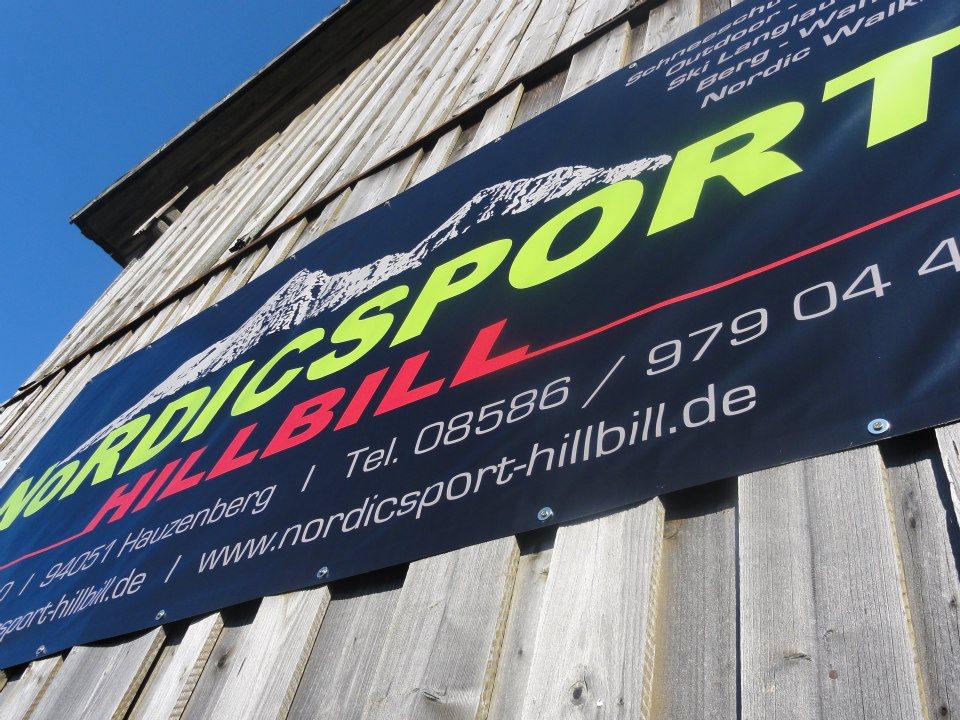 Referenz Werbeplane für Nordicsport HillBill
