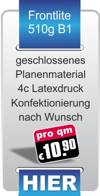 bedruckte Werbeplanen für nur 10,90 € pro Quadratmeter