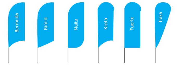 beachflags Varianten vom Allesdrucker