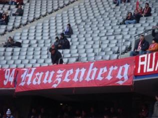 Zaunfahne des FCB Fahnclub aus Hauzenberg