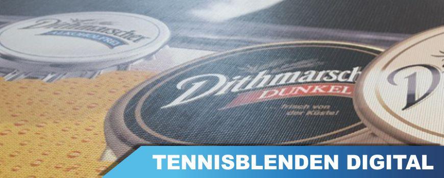 Digital bedruckte tennisblende