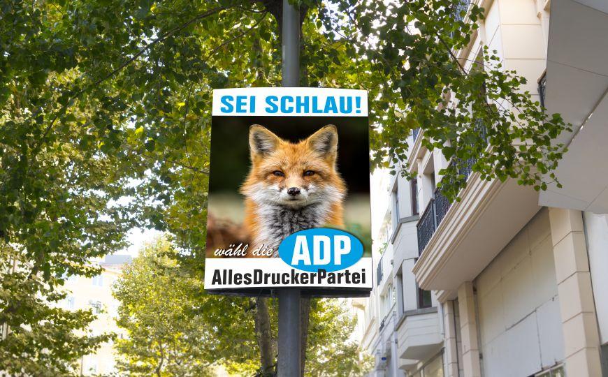Wahlplakat der ADP
