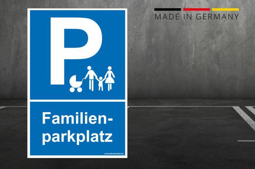 Parkplatzschild Familienparkplatz