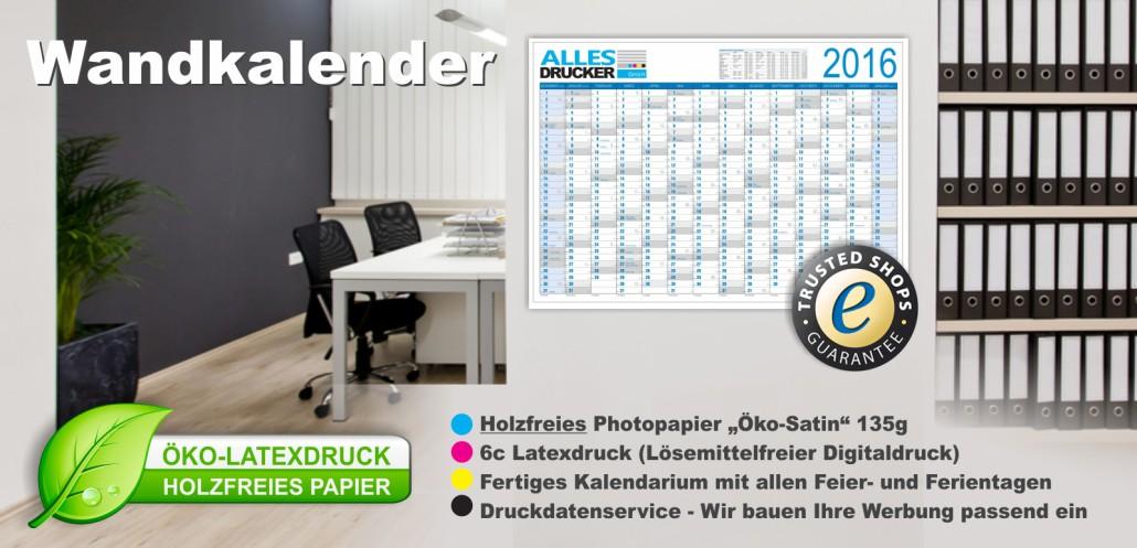 Wandkalender-Werbung